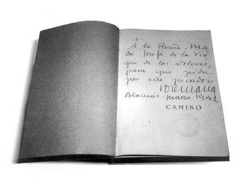 Ejemplar de la primera edición de Camino, impresa en Valencia en 1939